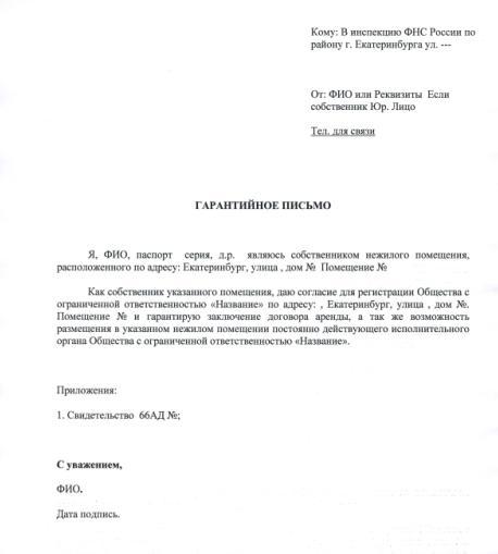 сообщение о смене юридического адреса образец